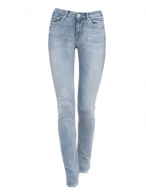 Washed blue high waist PIN denim jeans Retail price €190 Size 27/32 or S