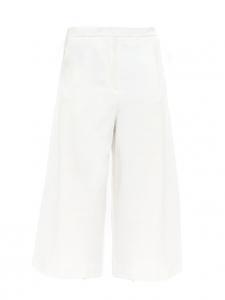 Pantalon ample raccourci en crêpe blanc Taille 36