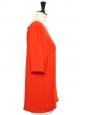 Top blouse manches courtes dos boutonné rouge coquelicot Px boutique 430€ Taille 38