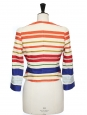Veste courte en soie et coton rayée multicolor Prix boutique 1400€ Taille 36