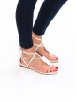 White leather embellished flat sandals NEW Retail price €700 Size 38