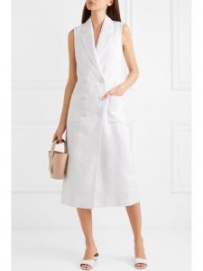 Robe veste Marrakech longue en lin blanc Prix boutique 980€ Taille M