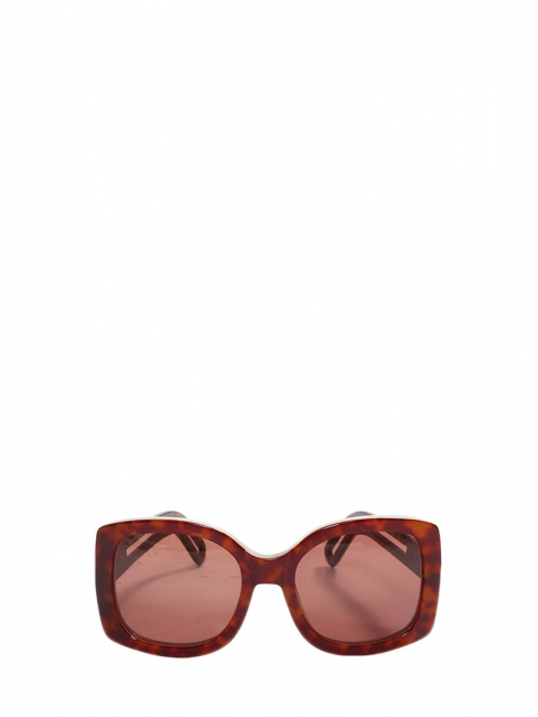 Brown burgundy tortoiseshell havana acetate oversize square CL 2123 sunglasses Retail price €300