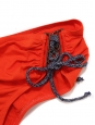 Bright red with blue strings bandeau and briefs bikini Retail price €195 Size 40