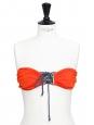 Maillot de bain deux pièces bandeau et culotte rouge vif Prix boutique 195€ Taille 40