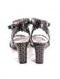 Sandales à talon LETICIA en cuir fleuri blanc NEUVES Prix boutique 625€ Taille 39