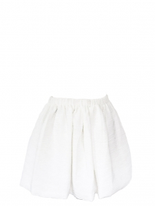 Ivory white high waist textured skater skirt Size M