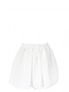 Jupe corolle taille haute texturée blanc ivoire Taille 38
