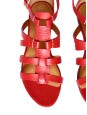 Bright red leather multi-strap gladiator sandals NEW Retail price 475€ Size 36.5