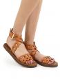 Laser cut camel brown flat sandals Retail price $715 Size 37.5