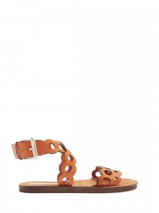 Laser cut camel brown flat sandals Retail price $715 Size 37.5