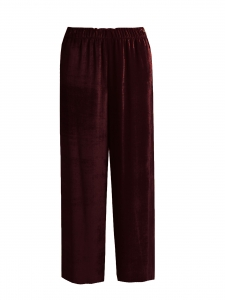 Dark burgundy velvet flared pants Retail price €280 Size 36