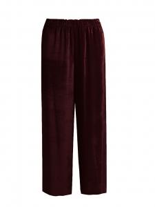 Dark burgundy velvet flared pants Retail price €280 Size 36