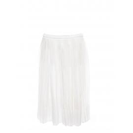 Jupe midi taille basse en voile plissé blanc Prix boutique 600€ Taille 34