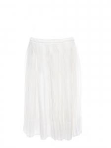 Jupe midi en voile plissé blanc Prix boutique 600€ Taille 36/38