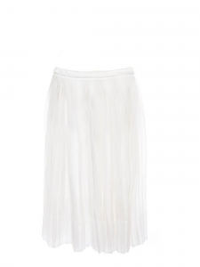White pleated midi skirt Retail price €600 Size 36/38