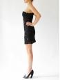 Black wool cut-out strapless mini dress Retail price 2360€ Size XS