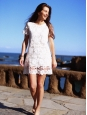 White floral lace short sleeve dress Size 36