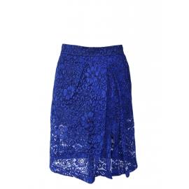 Klein blue lace midi Lizzie skirt Retail price €435 Size 34 to 36