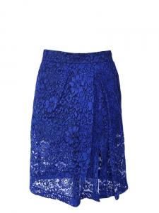 Jupe MIDID LIZZIE en dentelle bleu encre NEUVE Px boutique 435€ Taille 34