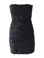 Black cut-out strapless mini dress Retail price 2360€ Size XS