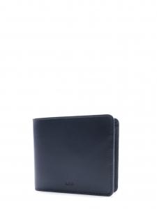 APC Portefeuille compact en cuir bleu marine Prix boutique 150€