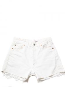 Short LEVI'S 501 en jean used blanc délavé Taille 36