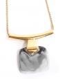 Collier fine chaîne dorée pendentif argent Prix boutique 140€