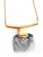 Necklace with thin gold chain and silver pendant Retail price €140