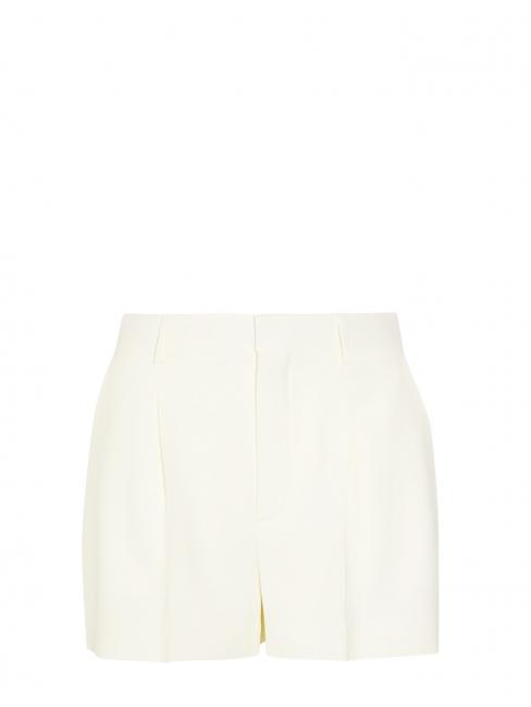 Short taille haute à pinces en crêpe blanc Prix boutique 490€ Taille 38