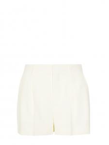 CHLOE Short taille haute à pinces en crêpe blanc Prix boutique 490€ Taille 34