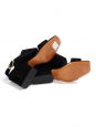 Black suede leather slingback heel sandals Retail price $680 Size 35