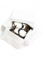 Mike black leather knotted bow flat sandals Retail price €540 Size 36,5