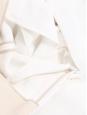 Pantalon taille haute évasée très long en crêpe blanc Prix boutique €750 Taille 36