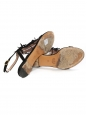 Black suede fringed flat sandals Retail price €450 Size 38.5