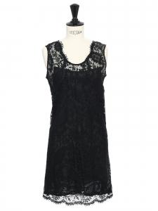 Robe sans manche en dentelle noire Px boutique 600€ Taille 36