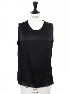 Top sans manche en soie lavée noire Px boutique 700€ Taille 36