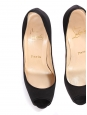 Black satin high heel peep toe pumps Retail price €550 Size 35.5