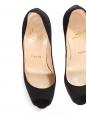 Escarpins peep toe à talon en satin noir Prix boutique 550€ Taille 35,5