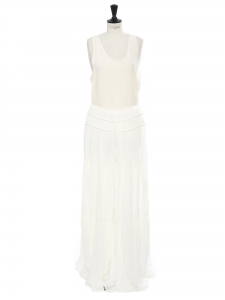 Oversized wide leg milk white crepe pants Retail price €2150