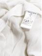 Oversized wide leg milk white crepe pants Retail price €2150