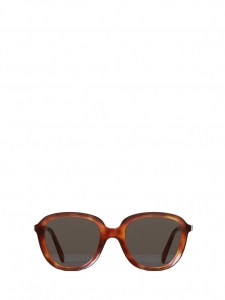 CELINE AVA Brown tortoiseshell dark havana round sunglasses CL 41448S Retail price €360