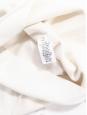 Ivory white stretch jersey open back thin strap mini dress Retail price €1500 Size XS