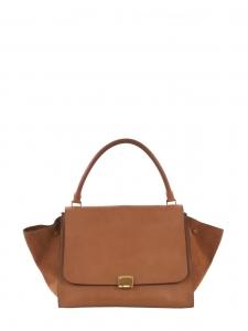Sac à main Trapeze modèle large en cuir marron camel et fauve Prix boutique 2400€