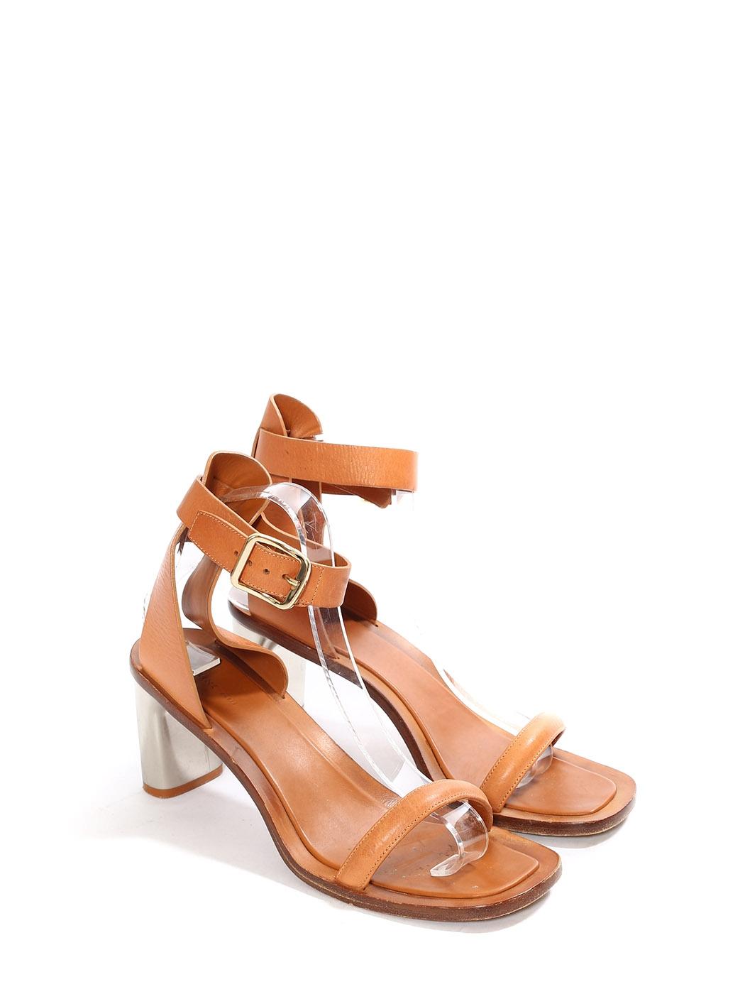 Celine Paris Sandales Bride Camel Cheville Bam Louise Cuir Kc1FlJ
