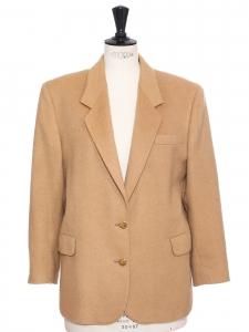 Veste manteau en camel hair et laine beige camel Prix boutique 1400€ Taille 40