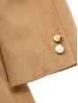 Tan beige camel hair and lambswool jacket Retail price €1400 Size 40