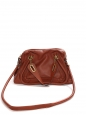 Cognac tan brown grained leather Paraty medium cross body bag Retail price €1450