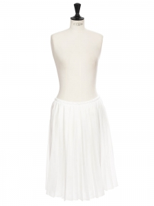 Low waist white pleated midi skirt Size 38