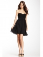 ASTI black silk and jersey strapless short dress Retail price €426 Size 38